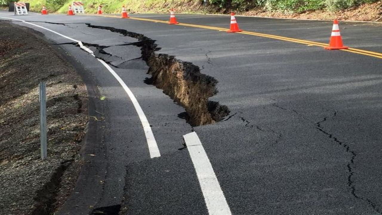 Storm destroys NorCal highway