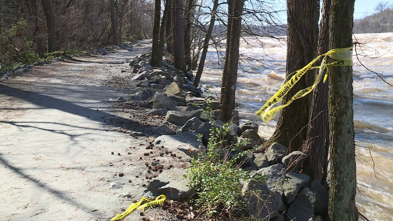 James River flooding wipes out hundreds of feet of trail, causes thousands of dollars in damages