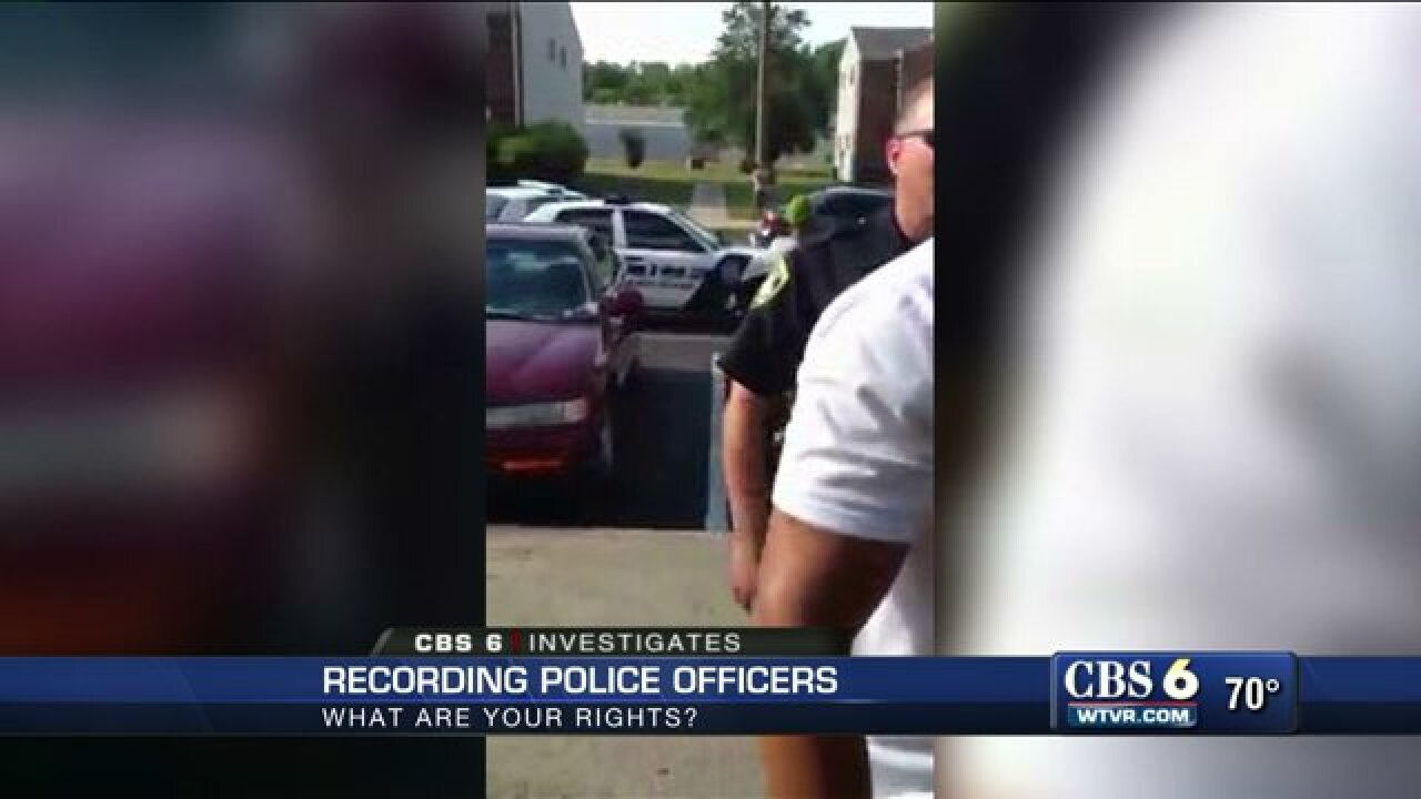 CBS 6 Investigates: What are your rights when filming police?