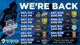 Switchbacks FC Schedule