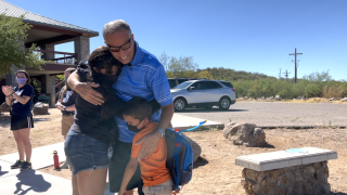 Dream family reunion at camp