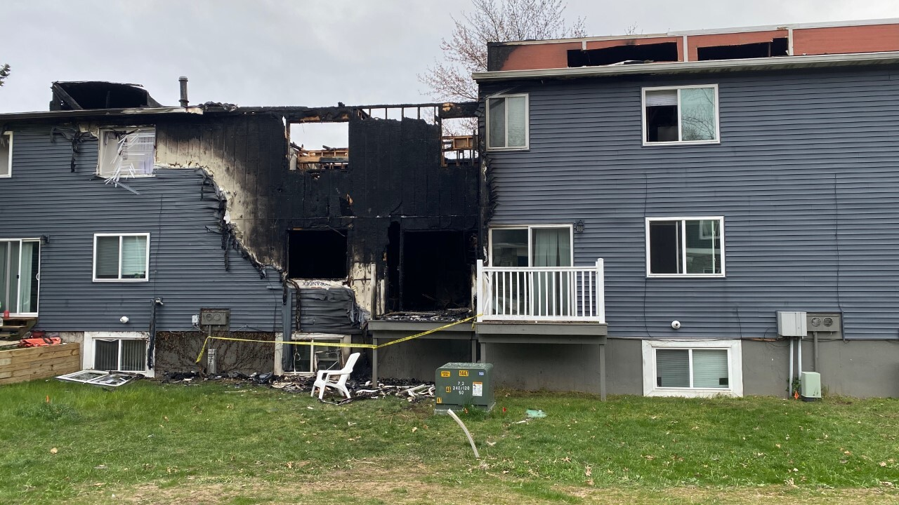 Fire at The Valley Apartment Townhomes