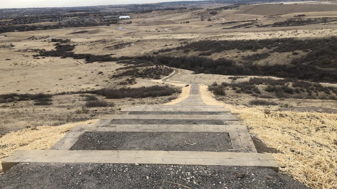 Rueter-Hess Reservoir incline in Parker