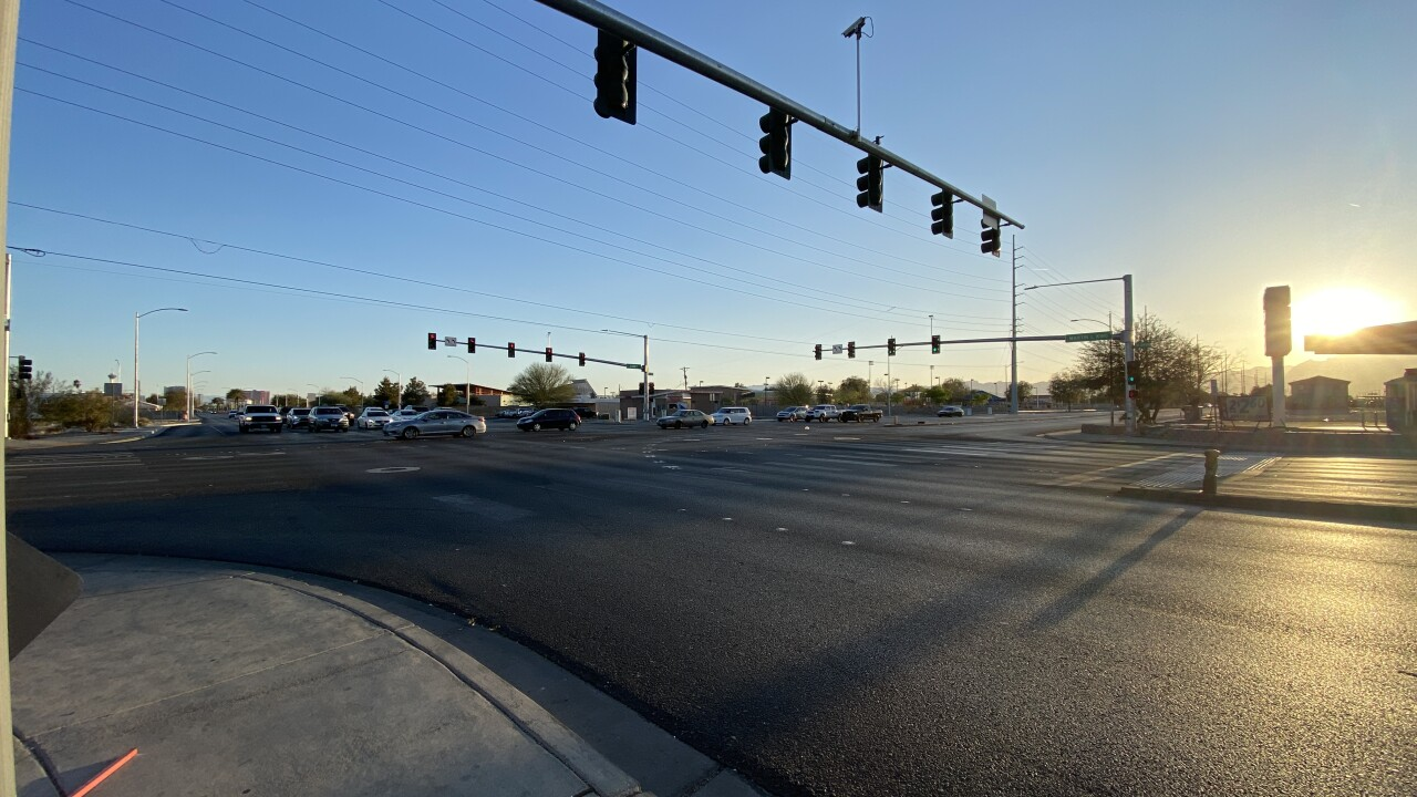 The intersection of Martin Luther King Boulevard and Carey Avenue is among the busiest in the valley as seen in March 2021