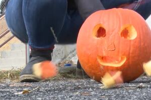 Montana Tech students blow up pumpkins in the name of science