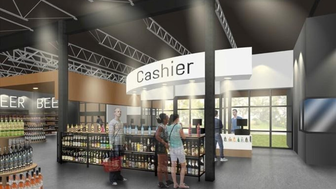 State Liquor and Wine Store in Saratoga Springs - Cashier Area