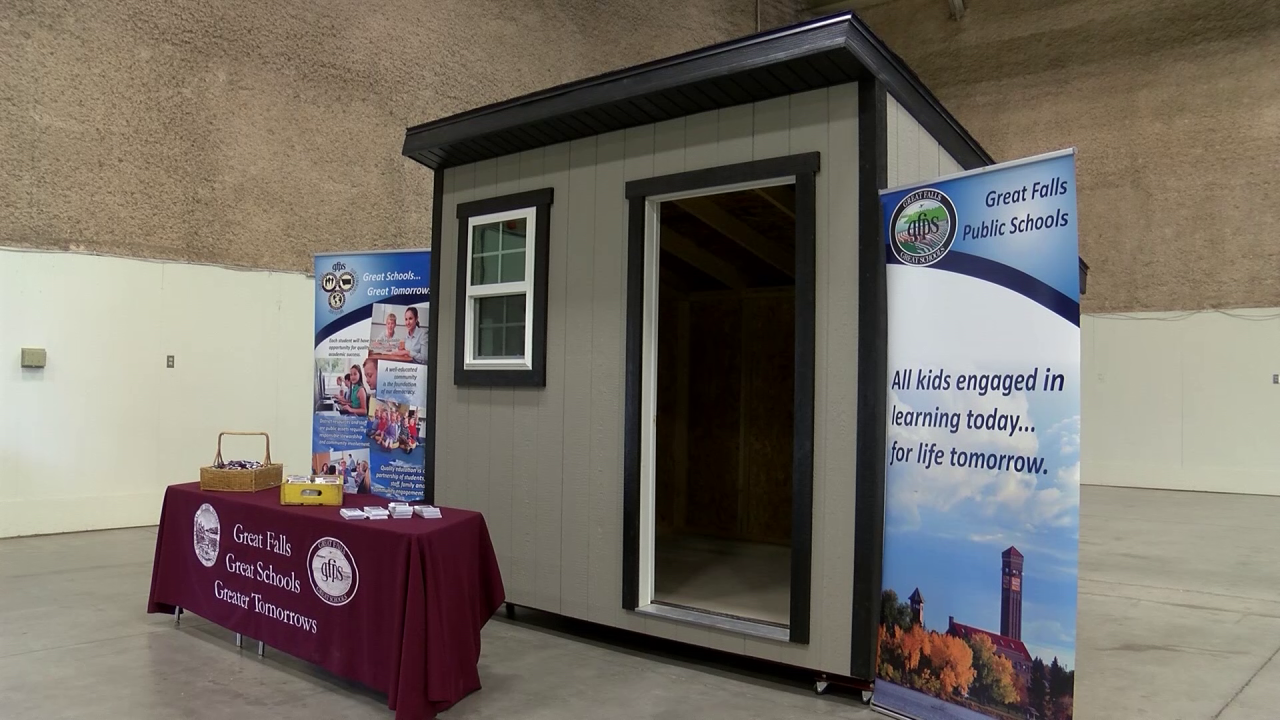 High School House students are raffling a shed