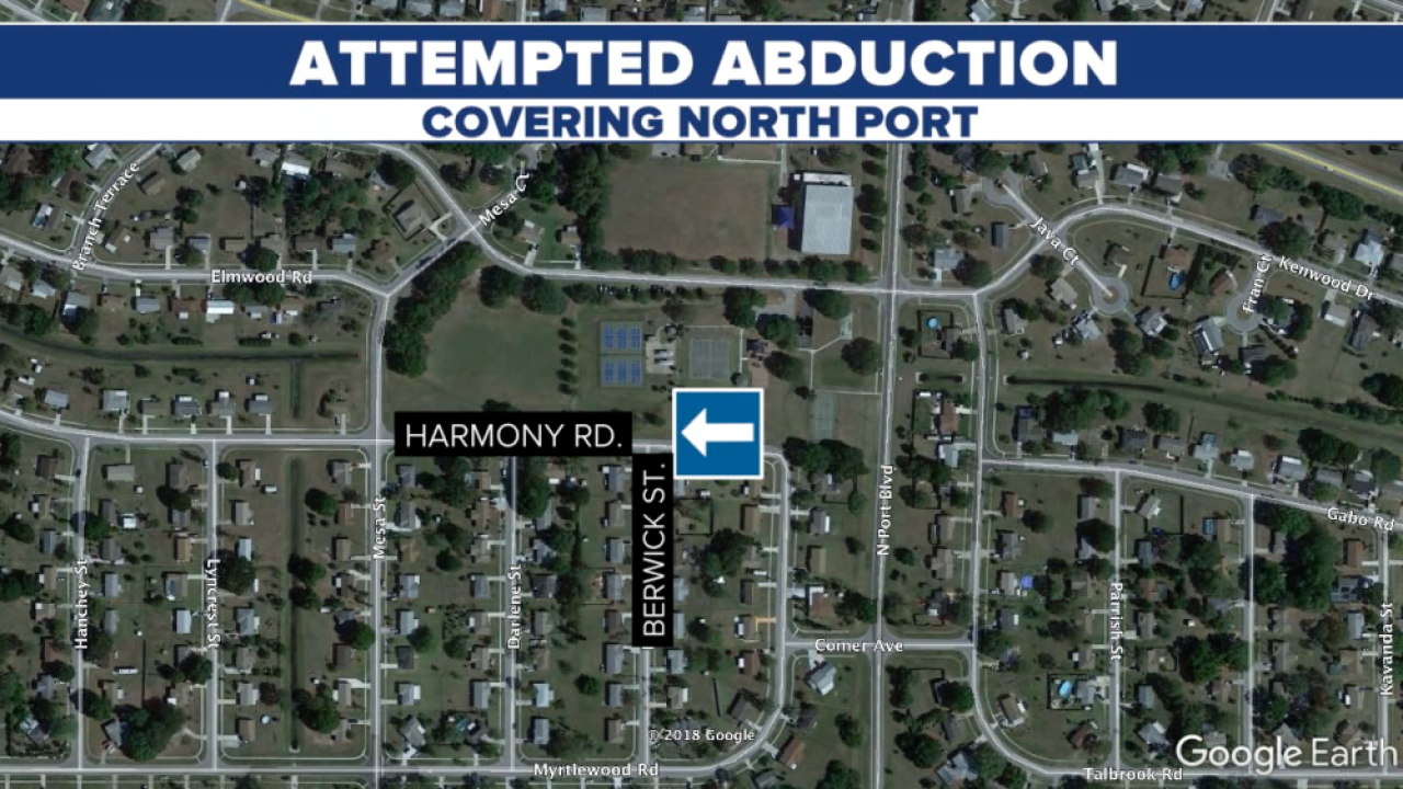 attempted abduction North Port map