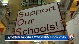 Teachers Closely Watching Final Days