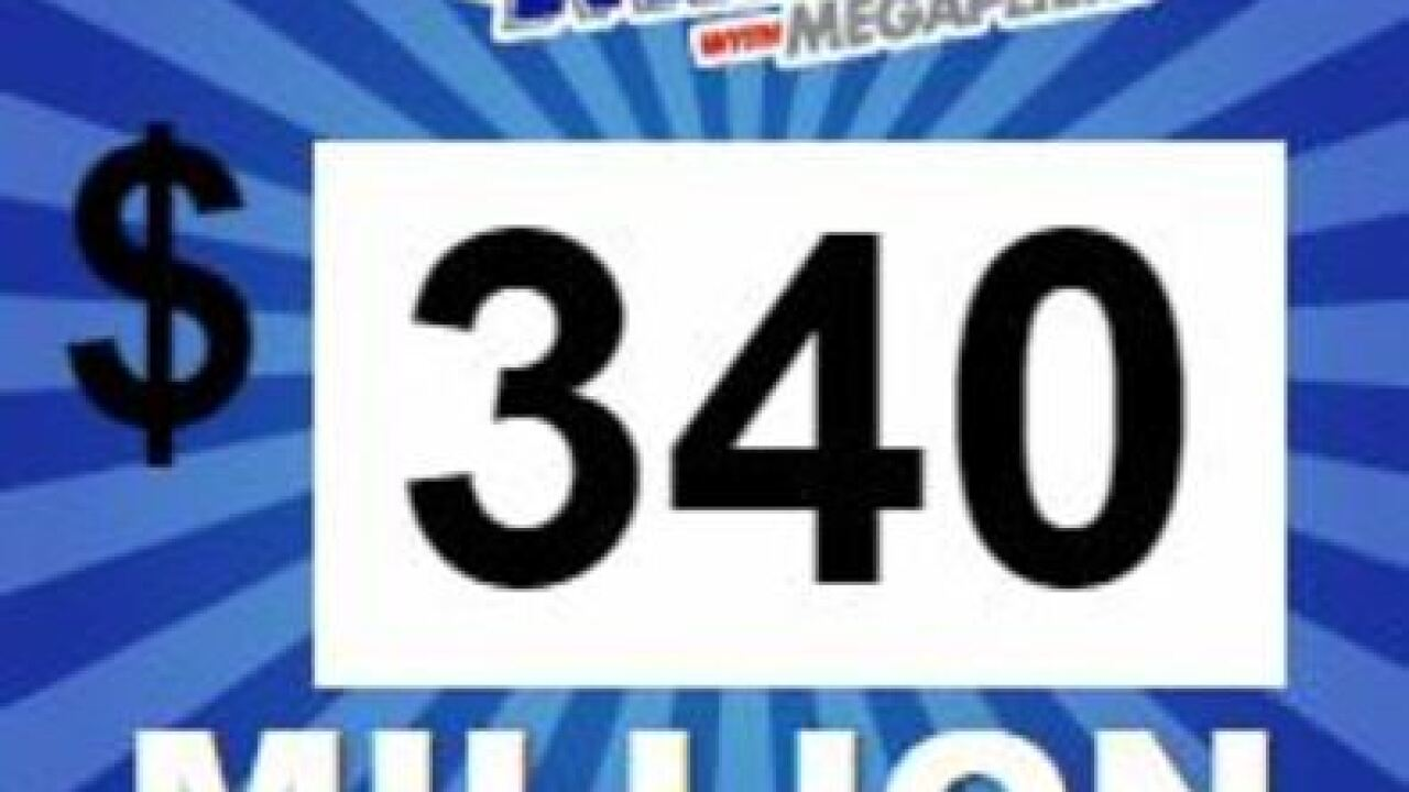 Mega Millions Jackpot at $340 million for Friday night drawing