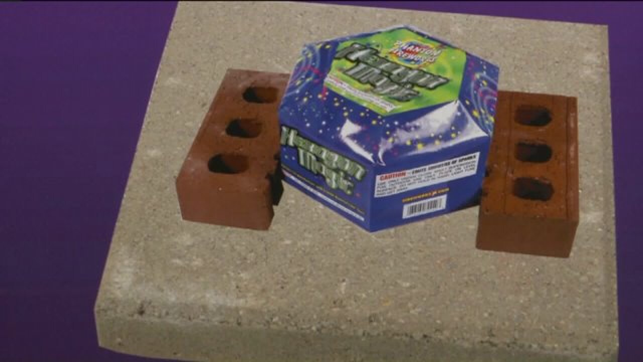 Experts demonstrate safe ways to set off fireworks