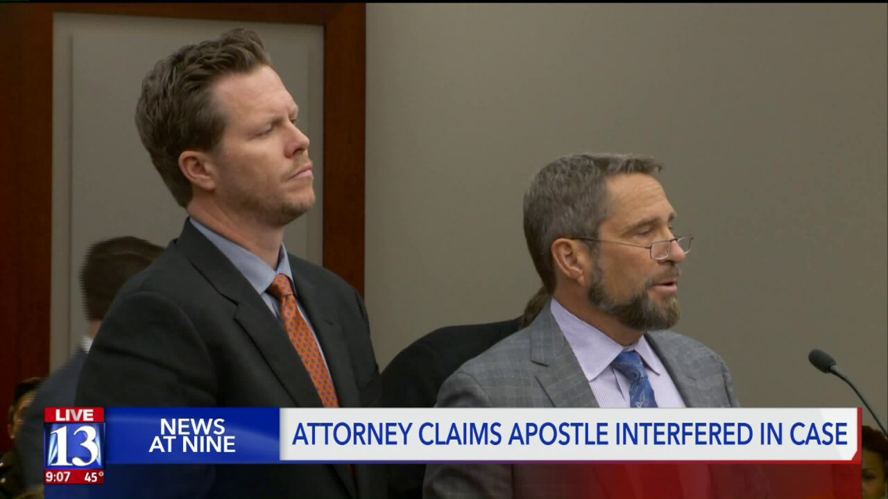 Defense attorney claims LDS apostle's comments interfered with ongoing case