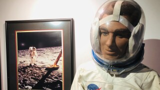 Exhibit on display at 'From Man to Martian' camp at South Florida Science Center