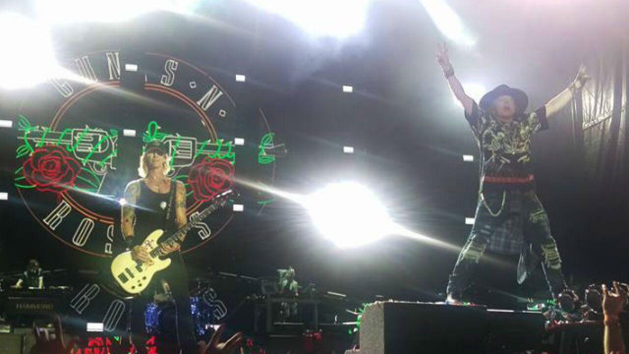 Guns N' Roses performs at Paul Brown Stadium