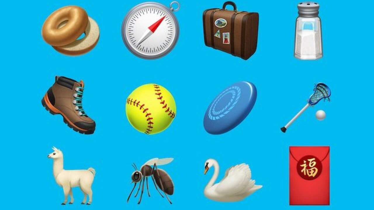 A llama, a bagel and a frisbee walk into an iOS update: Check out Apple's newest emoji
