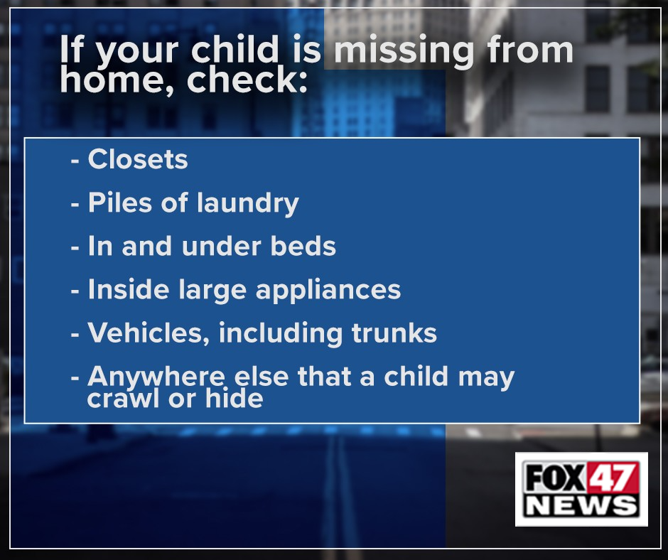If your child ever goes missing, make sure to check: