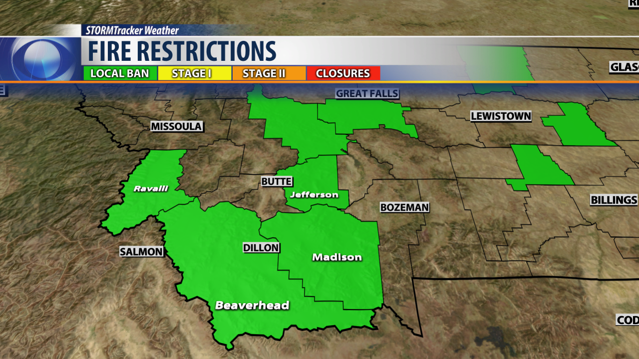 Burn bans across SW Montana