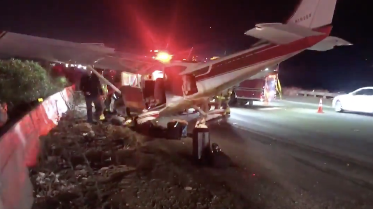 Planes nosedives onto California highway after smoke in cockpit