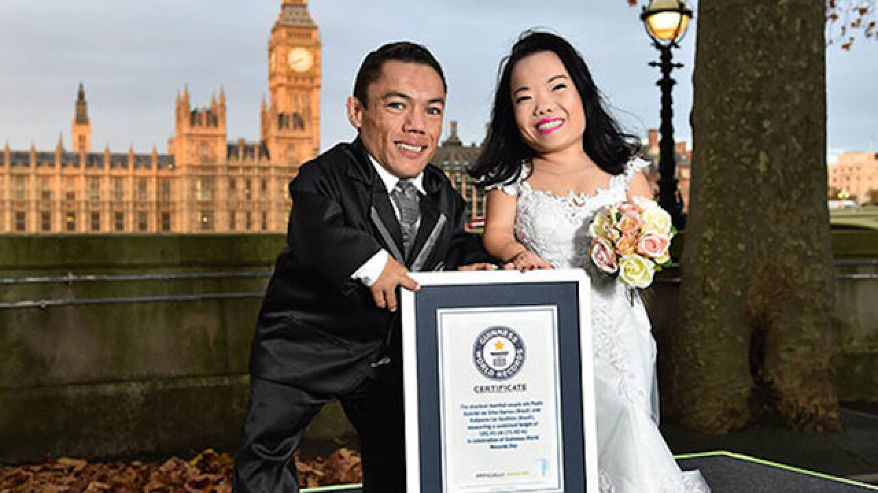 World's shortest couple ties the knot