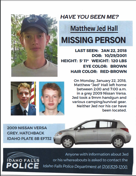 Matthew Jed Hall Missing Poster