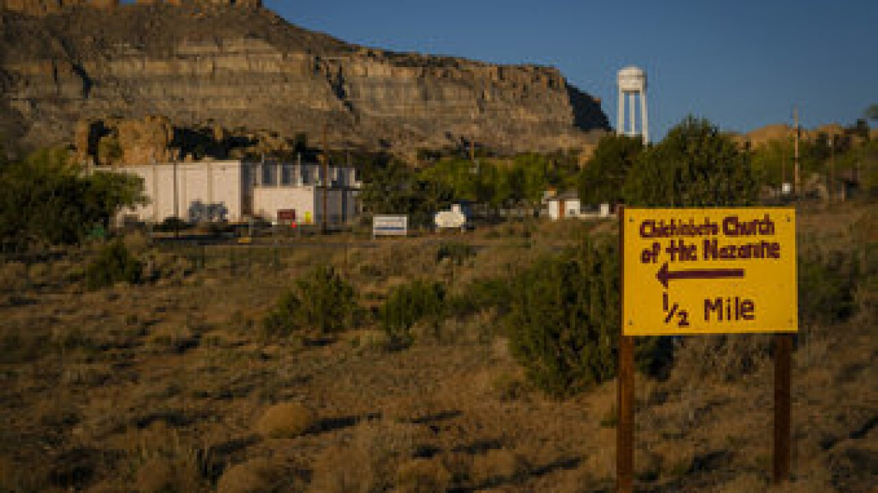 The Navajo reservation spans three western U.S. states and has some of the highest rates of coronavirus in the country. With roughly 175,000 people living there, the tribe has seen 3,122 cases. At least 100 people have died. Photo via AP.