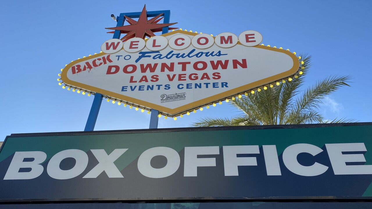 The Downtown Events Center is located at the corner of 3rd Street and Casino Center Boulevard in Las Vegas.