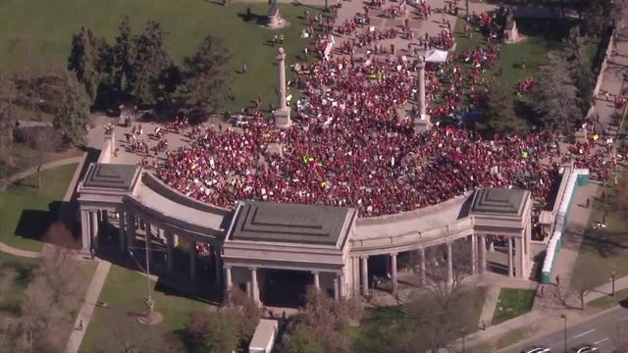 Day 2 of teacher walkouts, rally at Capitol