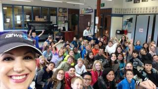 Weather visit to Pioneer Elementary