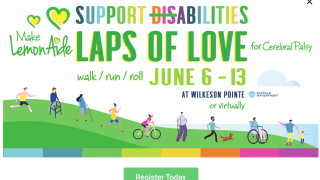 Laps of Love benefits the Make LemonAide Foundation for CP