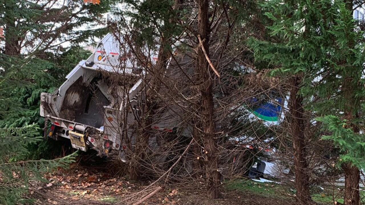 Garbage truck drives into Abingdon home