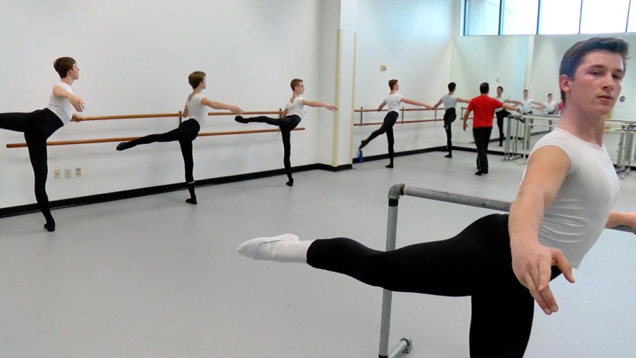 boys doing ballet