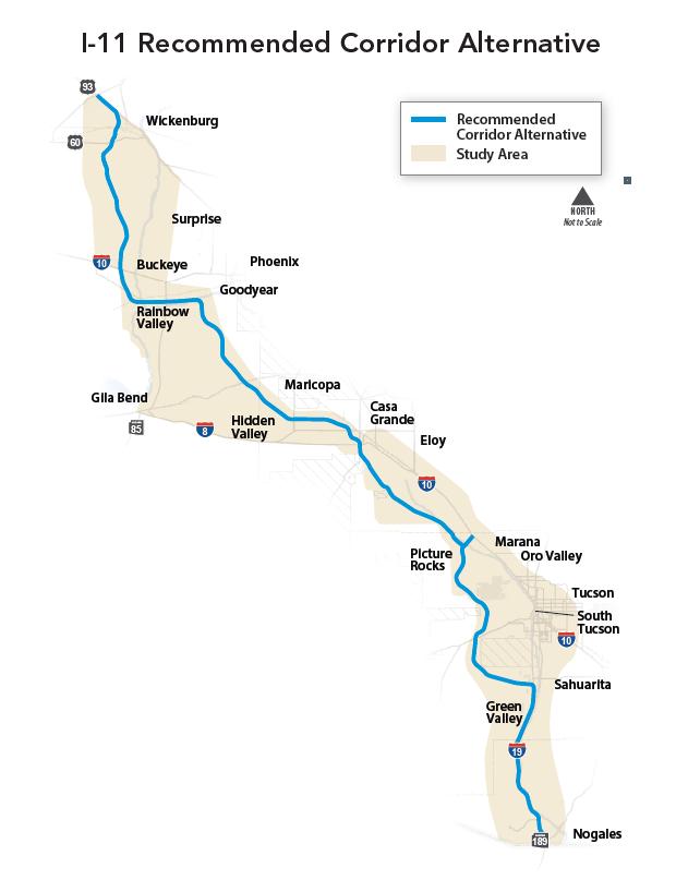 map ADOT i-11
