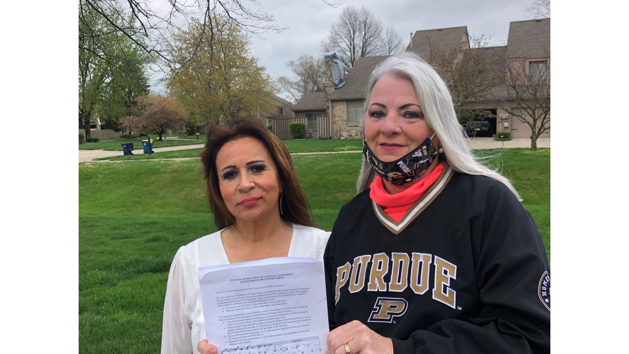 Maria Alexander and Ginger Kissinger are concerned about their HOA, Conner Creek, increasing monthly dues to pay for capital projects.