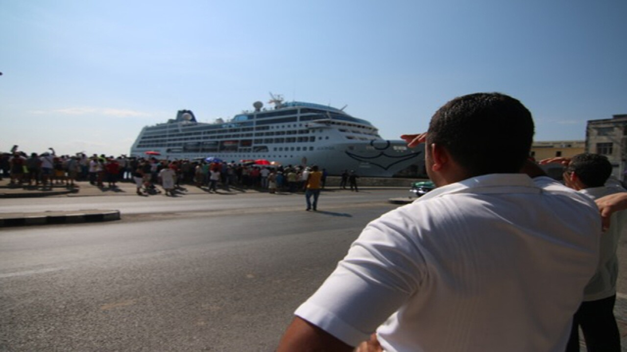 Photos: US cruise arrives in Cuba from Florida