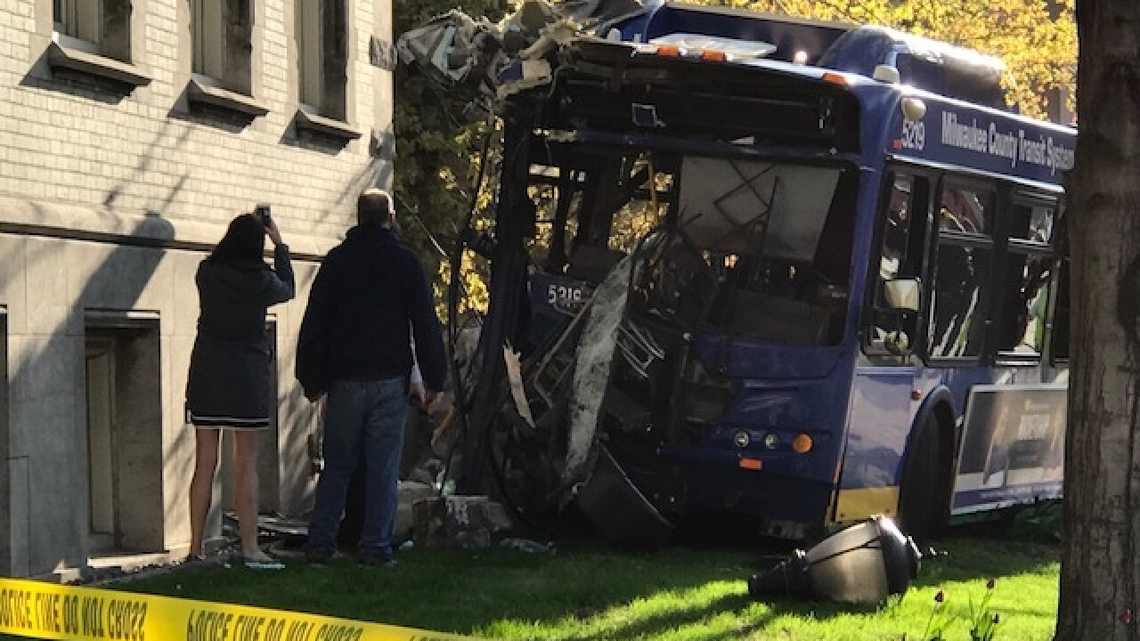 MCTS bus crashes near site of downtown fire