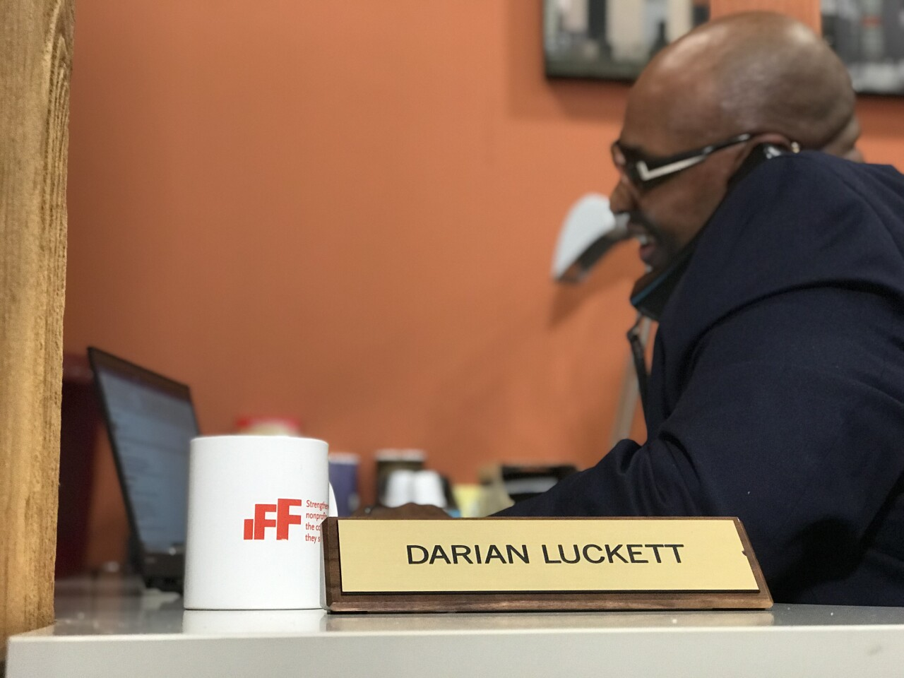 Darian Luckett with IFF helps people of color in leadership roles with nonprofits navigate their finances