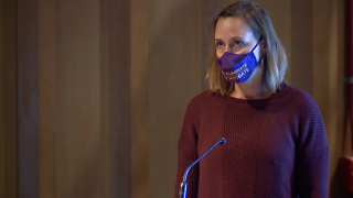 Gabriella McCarty, parent, speaks out against 100% online learning