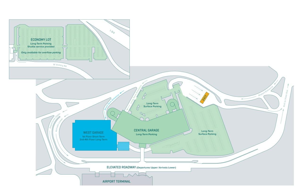 Boise Airport Parking Map