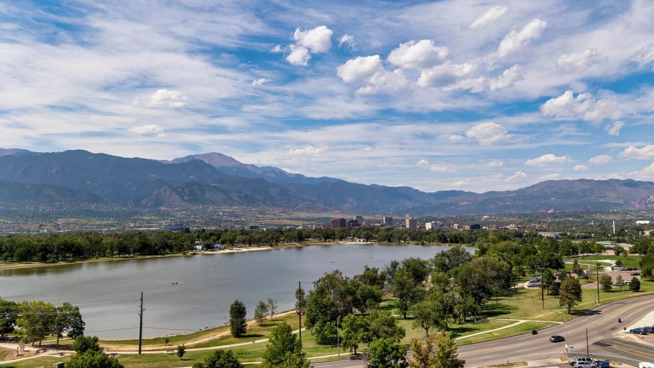 Hot September afternoon in Colorado Springs