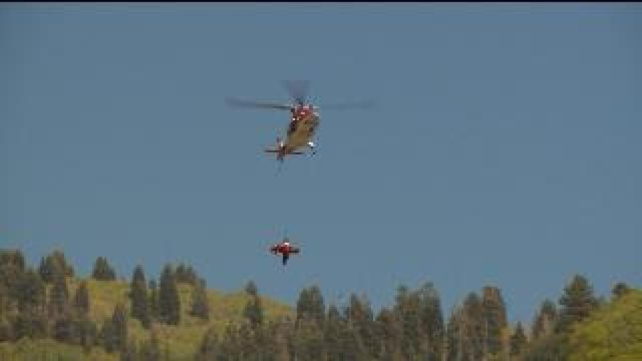 Crews use helicopter to rescue fallen hiker