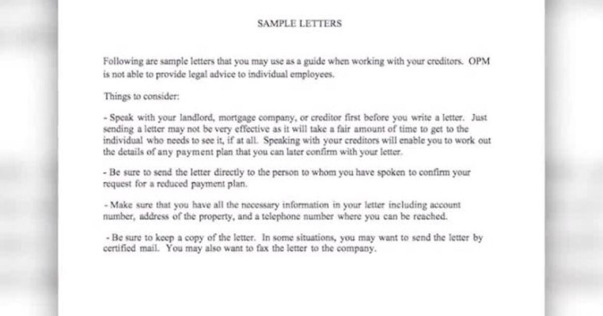 Government agency criticized for sample letter, advice sent