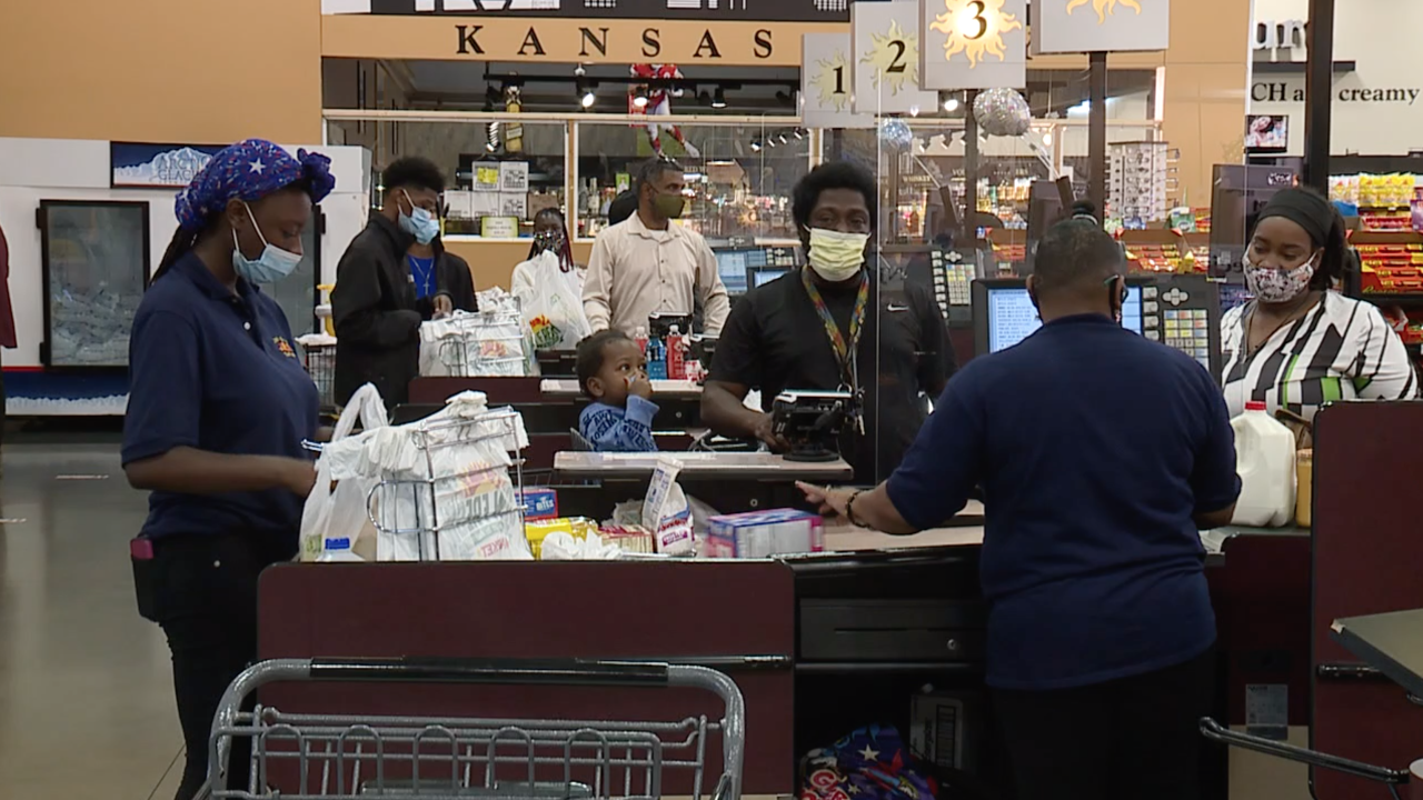 Masked Grocery Shoppers