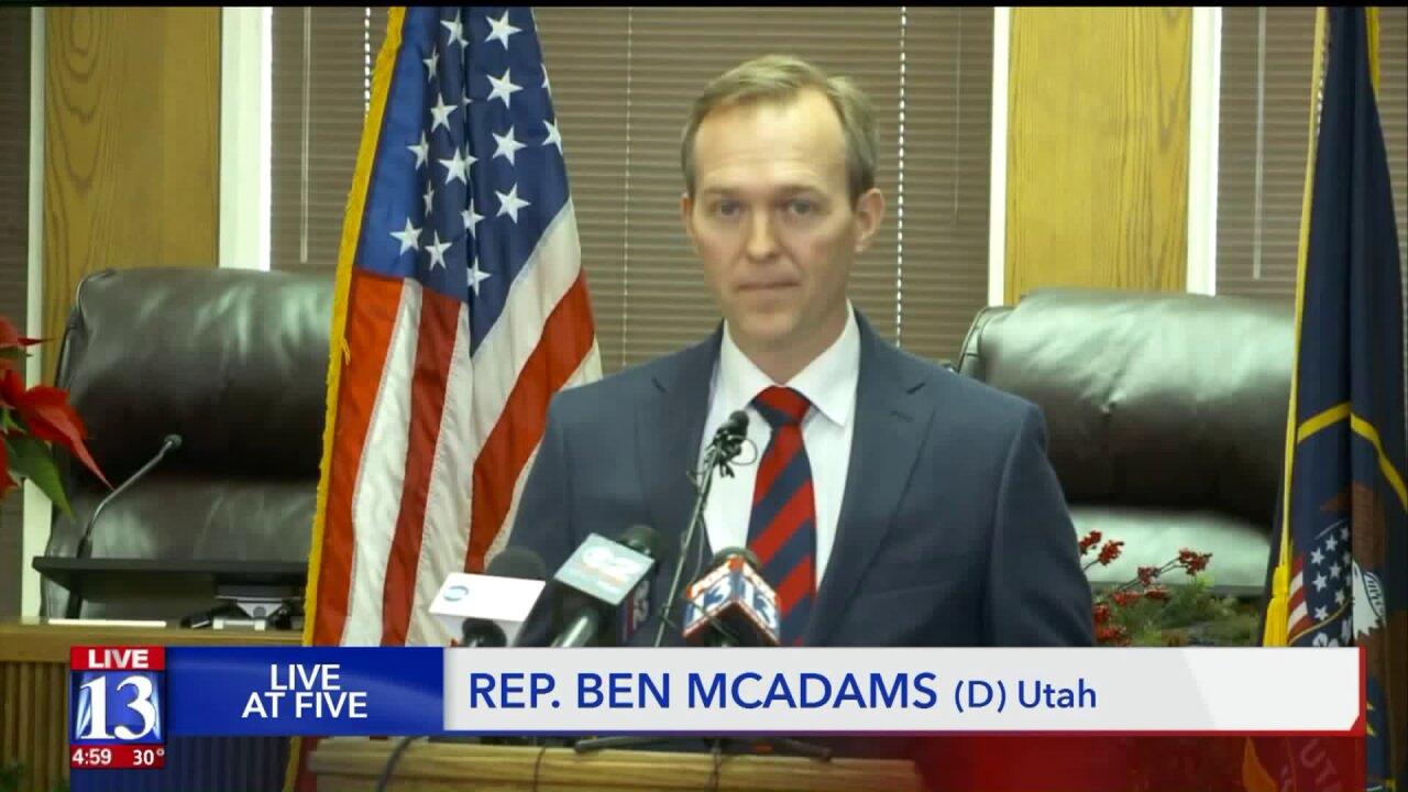 Utah's lone Democrat in Washington, Rep. Ben McAdams, will vote to impeach PresidentTrump