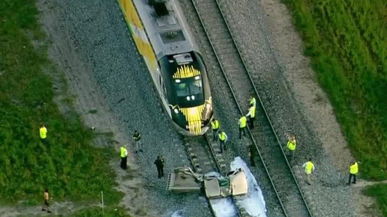Pickup truck struck by Brightline train in Lake Worth