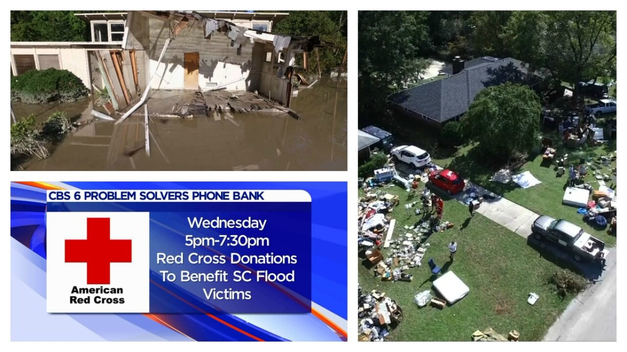 CBS 6 and Red Cross phone bank to benefit S.C. flood victims