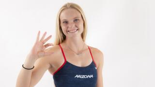 Arizona Wildcats diver Delaney Schnell will compete in the Tokyo Olympic games this summer. Photo via Arizona Athletics.