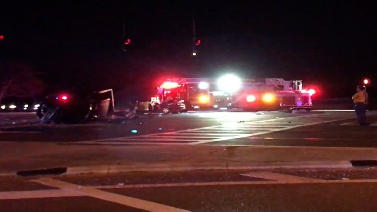 One dead, 8 injured in alcohol-related traffic crash at