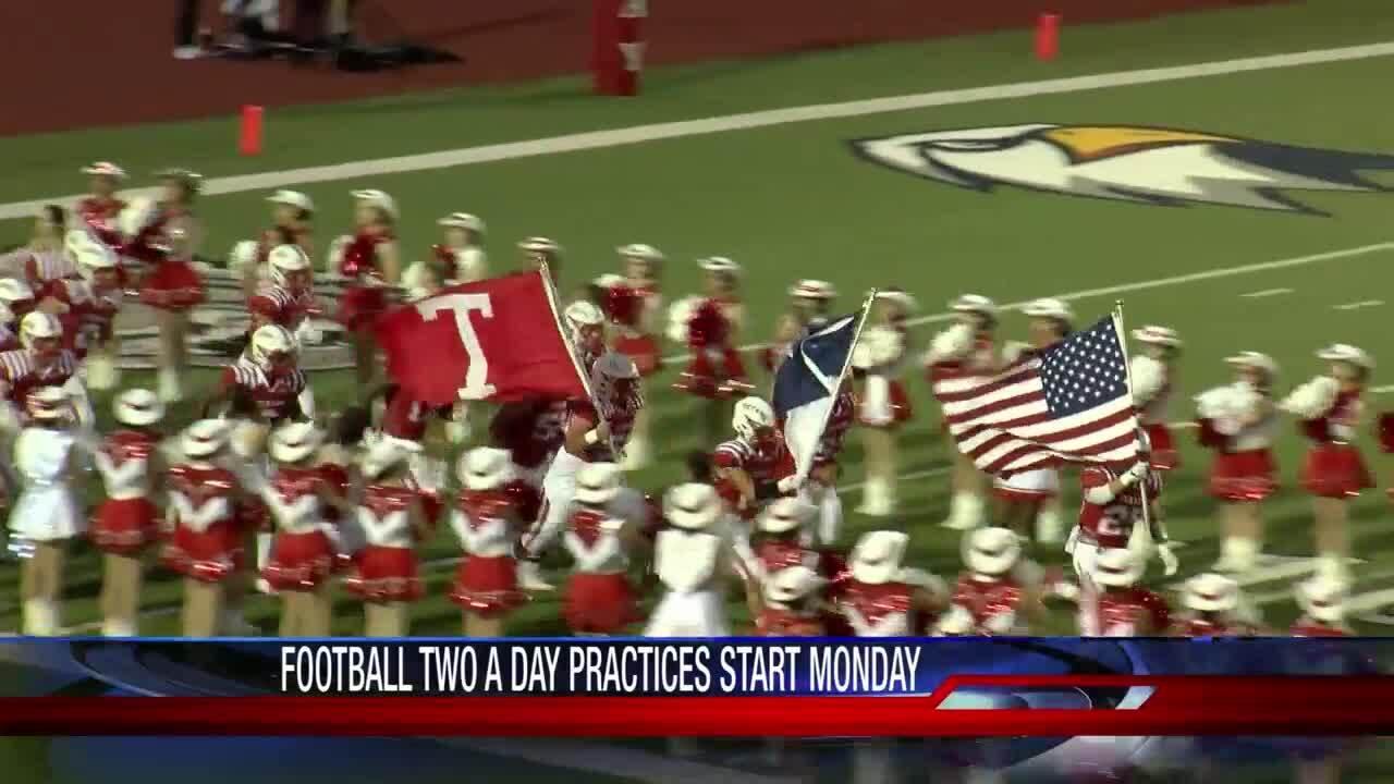 High school football practice starts across the Coastal Bend on Monday