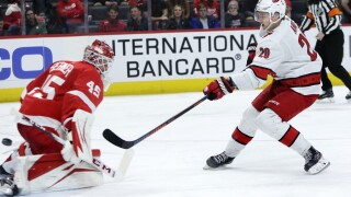 Red Wings fall to Hurricanes, clinch last place finish in NHL