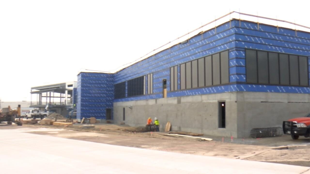 Billings airport new terminal exterior